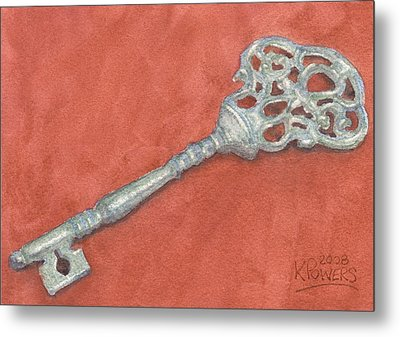 Ornate Mansion Key Metal Print by Ken Powers