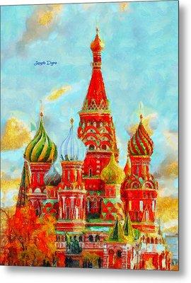 Ortodox Moscow  - Val D'orcia Style -  - Da Metal Print by Leonardo Digenio