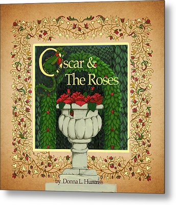 Oscar And The Roses Book Cover Metal Print
