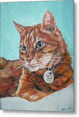 Metal Print featuring the painting Oscar by Bryan Bustard