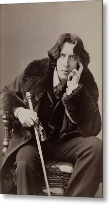 Oscar Wilde, 1854-1900 Irish Writer Metal Print by Everett