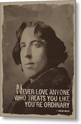 Oscar Wilde Quote Metal Print
