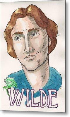 Oscar Wilde Metal Print by Whitney Morton