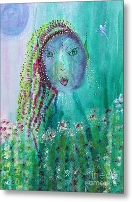 Metal Print featuring the painting Ostara by Julie Engelhardt
