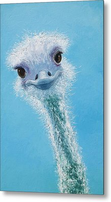 Ostrich Painting Metal Print by Jan Matson