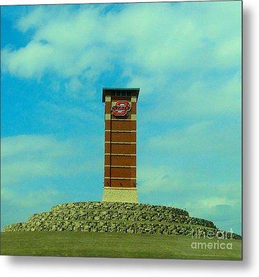 Oklahoma State University Gateway To Osu Tulsa Campus Metal Print by Janette Boyd