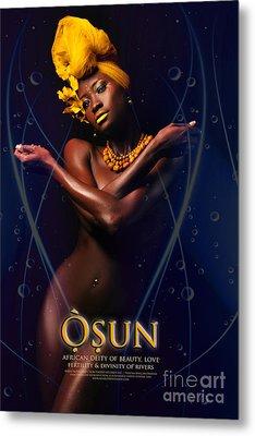 Osun Metal Print by James C Lewis