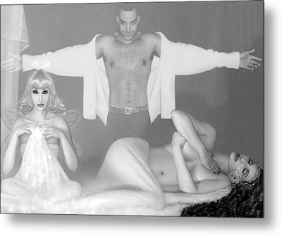 Othello And The Two Desdemonas - Deathbed Scene Metal Print