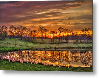 Other Worldly Sunrise Reflections   Metal Print by Reid Callaway