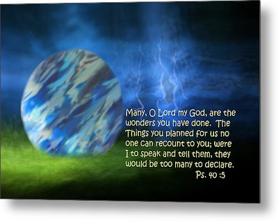 Otherworldly Psalm Forty Vs Five Metal Print