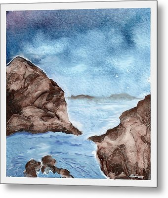 Otter Cove Metal Print by Beverly Johnson