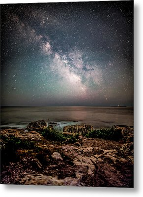 Otter Point Under The Stars. Metal Print