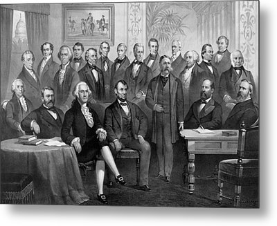 Our American Presidents 1789 - 1881  Metal Print by War Is Hell Store
