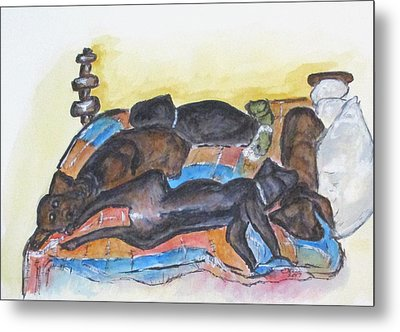 Our Bed Now Metal Print by Clyde J Kell