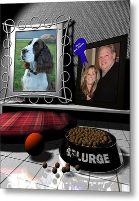 Our Dog Splurge Metal Print by Stuart Stone