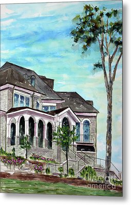 Our Home On The Hill Metal Print by Tim Ross