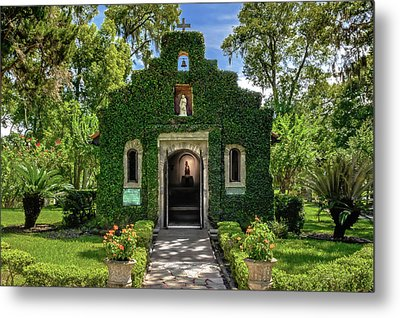 Metal Print featuring the photograph Our Lady Of Le Leche Chapel St. Augustine Florida   -   Ladyoflelechechapel122921 by Frank J Benz