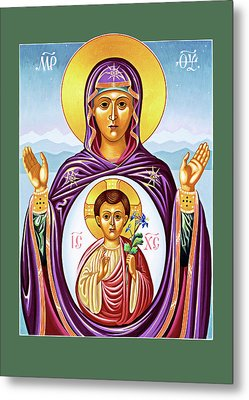 Our Lady Of The New Advent Metal Print