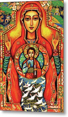 Metal Print featuring the painting Our Lady Of The Sign by Eva Campbell