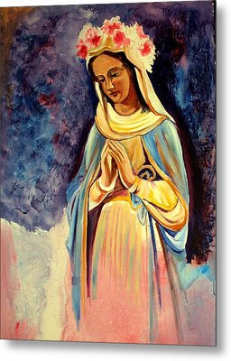 Our Lady Queen Of Mercy Metal Print by Sheila Diemert