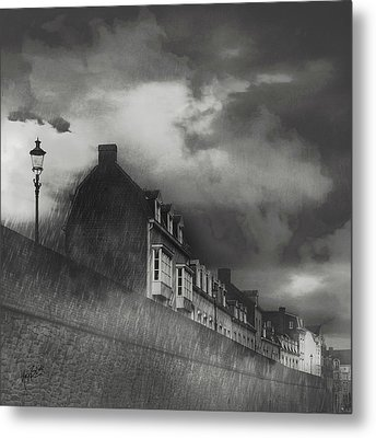 Our Lady Wall Maastricht Metal Print by Nop Briex