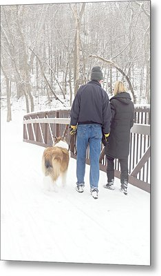 Our Love Will Keep Us Warm Metal Print by Larry Ricker