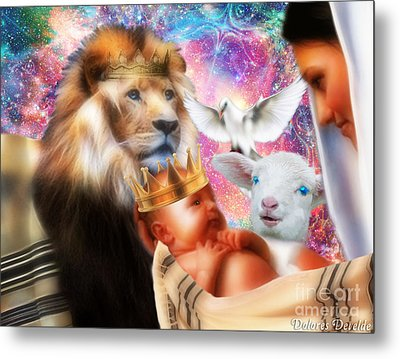 Metal Print featuring the digital art Our Saviors Birth by Dolores Develde