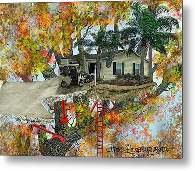 Our Tree House Metal Print by Jim Hubbard
