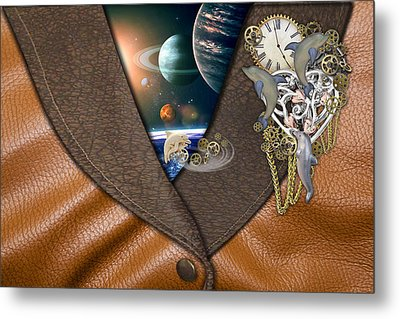 Our World On Time Metal Print by Nadine May