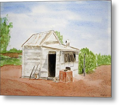 Old Miners Hut Metal Print