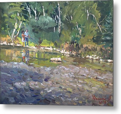 Out Fishing With Viola  Metal Print by Ylli Haruni