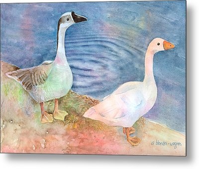 Out For A Stroll Metal Print by Arline Wagner