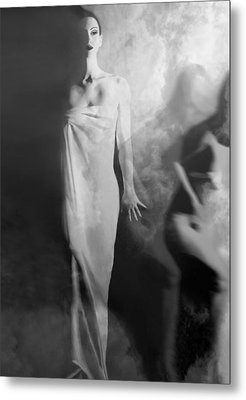Out Of The Fog - Self Portrait Metal Print by Jaeda DeWalt