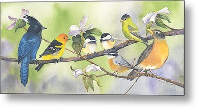 Out On A Limb Metal Print by Sylvia Smith
