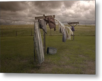 Out On The Line Metal Print by Michele Richter