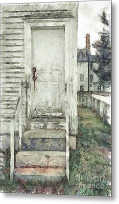 Out The Back Door Pencil Metal Print by Edward Fielding