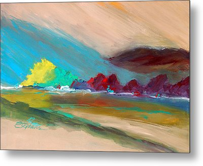 Metal Print featuring the painting Out There by Ron Stephens