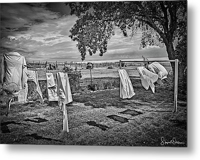 Out To Dry 2 - Antelope Island State Park - Signed Limited Edition Metal Print by Steve Ohlsen