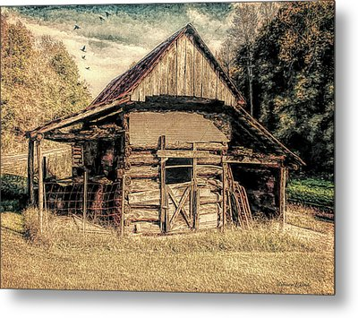 Out To Pasture 1 Metal Print by Bellesouth Studio