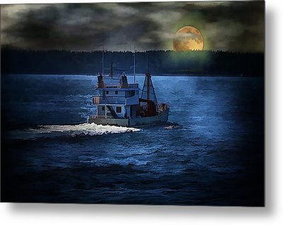 Metal Print featuring the photograph Out To Sea by Gary Smith