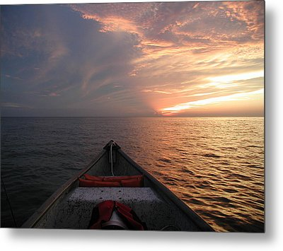 Metal Print featuring the photograph Out To Sea by Nancy Taylor