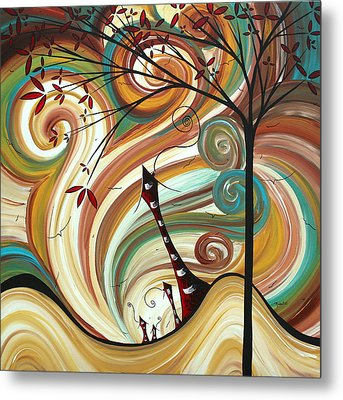 Out West II By Madart Metal Print by Megan Duncanson