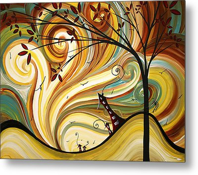 Out West Original Madart Painting Metal Print by Megan Duncanson