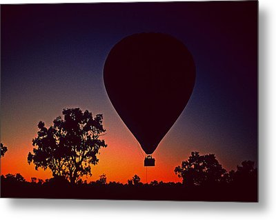 Outback Balloon Launch Metal Print