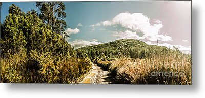 Outback Country Road Panorama Metal Print