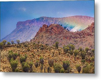Outback Rainbow Metal Print by Racheal  Christian