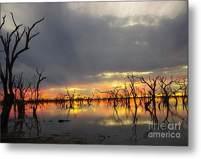 Outback Sunset Metal Print by Blair Stuart