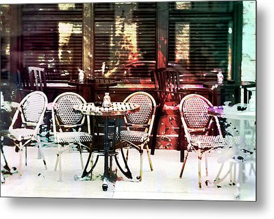 Outdoor Dining In Minneapollis Metal Print by Susan Stone