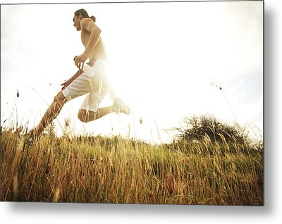 Outdoor Jogging II Metal Print by Brandon Tabiolo - Printscapes
