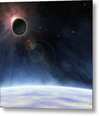 Outer Atmosphere Of Planet Earth Metal Print by Phil Perkins